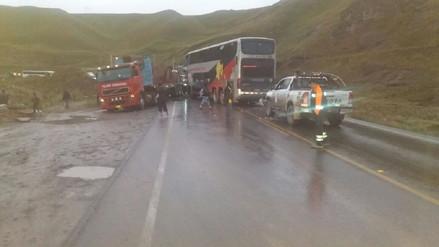 La Oroya: diez heridos dejó triple choque en la Carretera Central