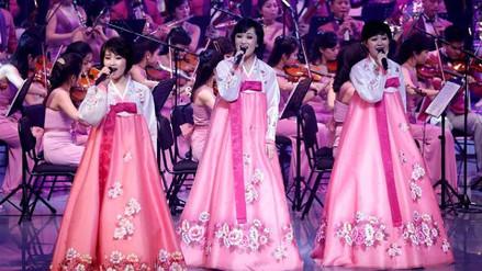 Kim Jong-un recibió a la orquesta que actuó en los Juegos Olímpicos de PyeongChang