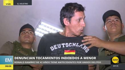 Capturaron a un hombre acusado de realizar tocamientos indebidos a un niño en El Agustino