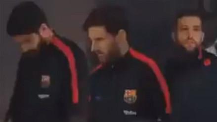 La escena viral que protagonizaron Leo Messi, Luis Suárez y Jordi Alba