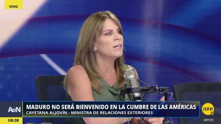 """Aljovín dijo que el rechazo a la presencia de Maduro """"delimitará la cancha"""" en la región"""