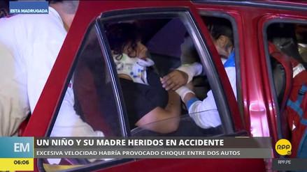 Una madre y su hijo resultaron heridos en un accidente de tránsito en Jesús María
