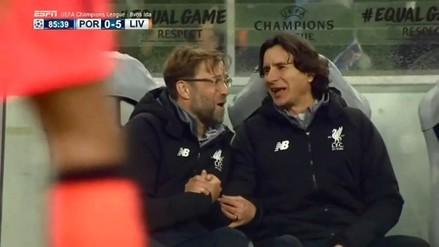 Jurgen Klopp disfrutó con el juego del Liverpool en la Champions League