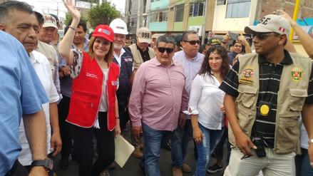 Mercedes Aráoz inspecciona obras de reconstrucción en Lambayeque