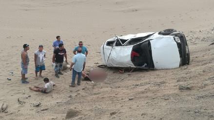Huaral: Seis heridos dejó despiste de taxi colectivo en la Panamericana Norte