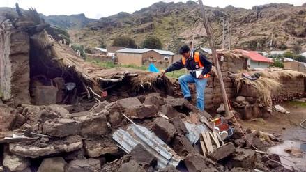 Seis distritos de Puno en emergencia por lluvias y granizadas