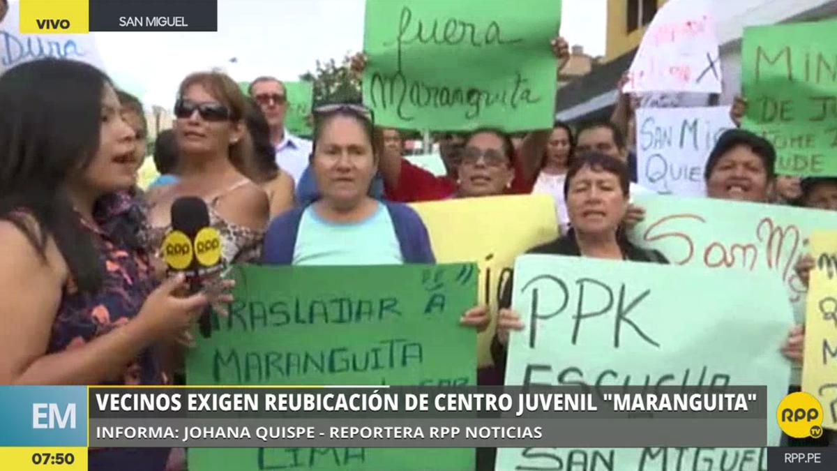 San Miguel: Vecinos exigen la reubicación de 'Maranguita'