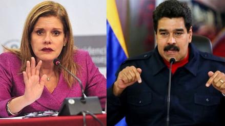 Mercedes Aráoz dijo a Maduro que