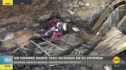 Un hombre murió calcinado al incendiarse su casa en San Juan de Lurigancho