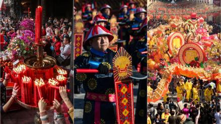 China recibe el Año del Perro con mucho color y muestras de espiritualidad