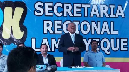 Arturo Castillo renuncia a candidatura regional por PPK