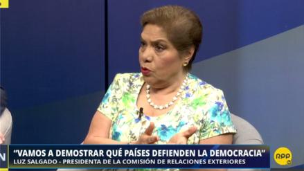 """Salgado dijo que la izquierda """"tiene miedo de decirle dictador"""" a Nicolás Maduro"""