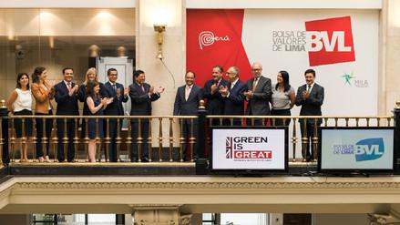 Con campanazo BVL da primer paso para crear el mercado de bonos verdes en Perú