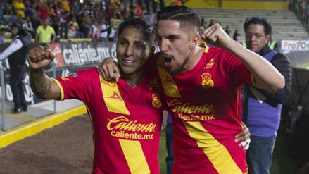 Monarcas Morelia venció 2-1 a Lobos BUAP con gol de Raúl Ruidíaz