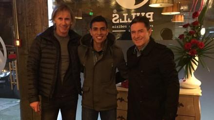 Paolo Hurtado recibió la visita de Ricardo Gareca y Sergio Santín