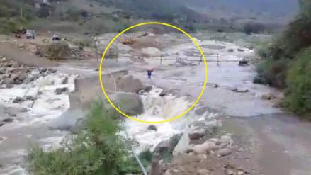 Incahuasi: piden agilizar entrega de puente ante crecida del río Moyán
