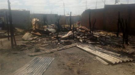 Incendio arrasó con siete viviendas en Sechura