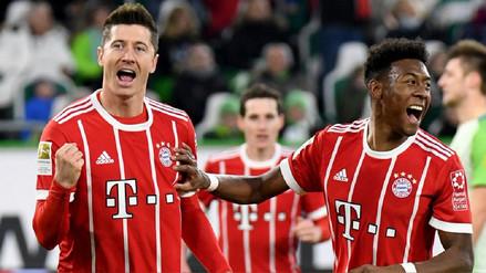 Bayern Münich sumó su victoria consecutiva número 15 gracias a penal de Lewandowski