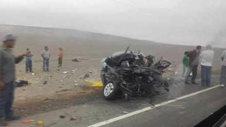 Cuatro muertos y un herido dejó accidente de tránsito en Marcona