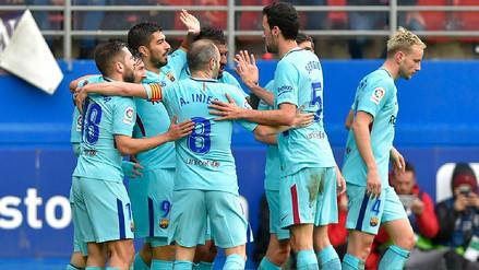 Barcelona venció 2-0 al Eibar de visita para mantener su invicto en España