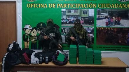 Policía Nacional decomisa 35 kilos de cocaína en el Vraem