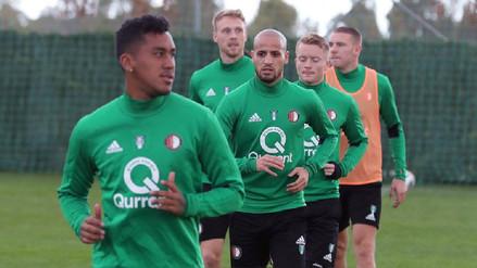 Renato Tapia lleva tres partidos sin jugar en el Feyenoord