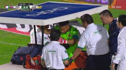 Pedro Gallese se lesionó en partido entre Veracruz y América