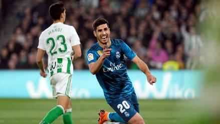 Con doblete de Marco Asensio, Real Madrid derrotó de visita al Betis