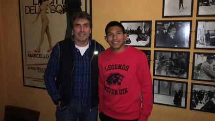 Néstor Bonillo se reunió con Edison Flores en Dinamarca