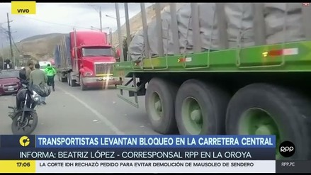 Transportistas levantan paro contra peaje y desbloquean Carretera Central