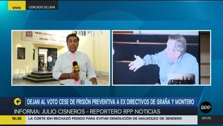 Dejan al voto cese de la prisión preventiva contra directivos de Graña y Montero