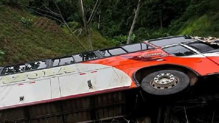 Chanchamayo: nueve heridos dejó despiste y vuelco de bus