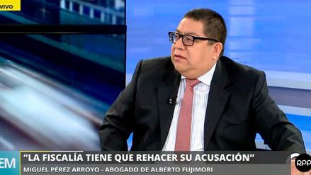 Defensa de Fujimori dijo que acusación de la Fiscalía por el caso Pativilca