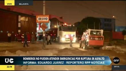 Bomberos no pueden atender emergencias por obras de la Municipalidad de Bellavista