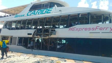 México   Una explosión en un ferry en Playa del Carmen deja una decena de heridos