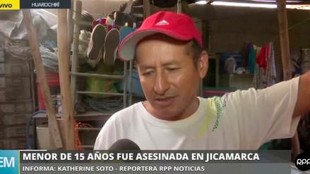 Padre de adolescente asesinada en Jicamarca dijo que fue dopado por su inquilino