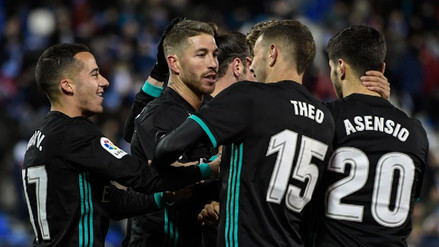 Real Madrid se puso al día en La Liga ganándole 3-1 al Leganés