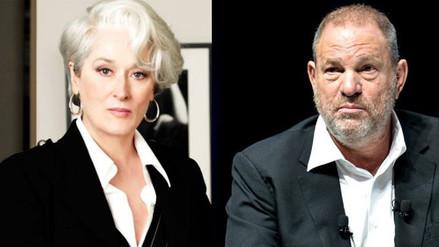 Meryl Streep critica a Harvey Weinstein por citarla para defenderse