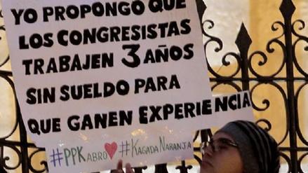 Jóvenes de Arequipa marcharon contra la 'Ley de empleo juvenil'