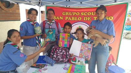Jóvenes Scout recolectan útiles escolares para niños de Inkahuasi y Pítipo