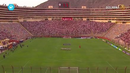 Así se vivió el homenaje a Daniel Peredo en el Estadio Monumental