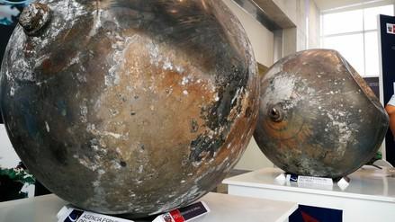 Estas son las esferas que cayeron del espacio en Puno
