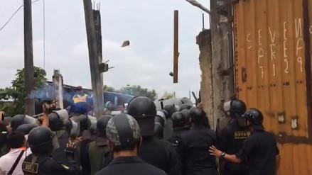Tres detenidos tras un violento desalojo en terrenos privados en Iquitos