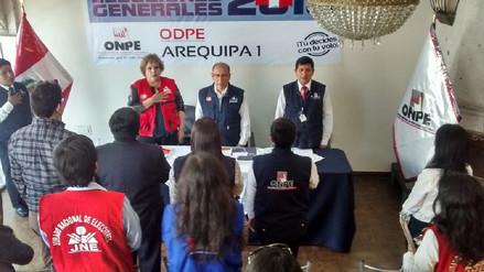 Instalarán cinco oficinas de la Onpe en Arequipa para próximas elecciones