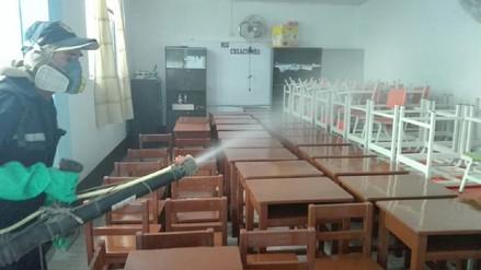 Empiezan fumigación en colegios del centro de Chiclayo
