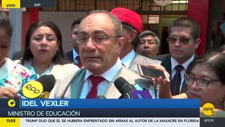 """Idel Vexler sobre jefa de Sunedu: """"Si se demuestra falta, no puede seguir en el cargo"""""""