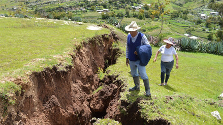 Fotos | Viviendas a punto de colapsar por falla geológica en Chumbivilcas