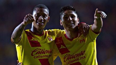 Raúl Ruidíaz anotó un golazo de volea en la victoria del Monarcas Morelia