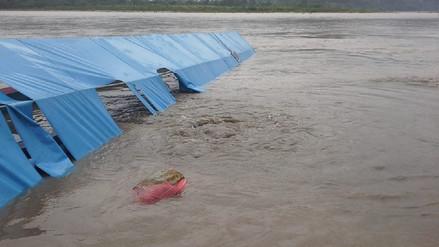 Satipo: embarcación con alimentos de Qali Warma se hundió en el río Tambo