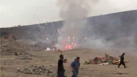 Alistan incineración de cuatro toneladas de material pirotécnico